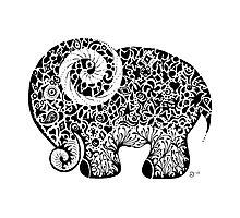 Elephant Doodle Photographic Print