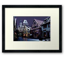 December night in Rothenburg Framed Print