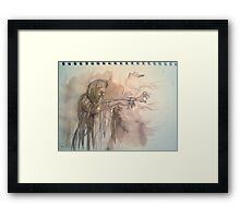 Witch,Ink sketch Framed Print