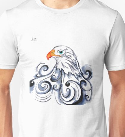 Bald Eagle pen and ink drawing Unisex T-Shirt