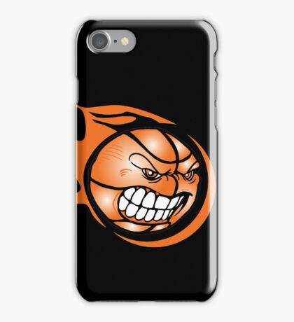 Angry Flaming Basketball Ball iPhone Case/Skin