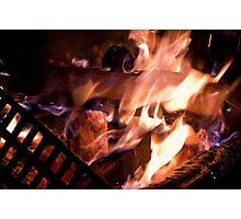 Nice, Warm, Toasty Fire Photographic Print