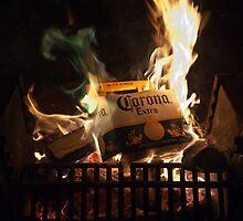 Green Flames Licking Cardboard by BialySnieg96