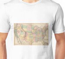 Vinage Map of The United States (1873) Unisex T-Shirt