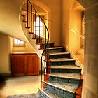 Stairs to the Gallery by Christine Smith