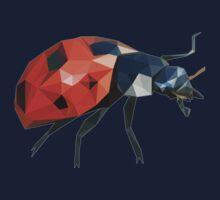 Low Poly Ladybird /  Ladybug One Piece - Long Sleeve