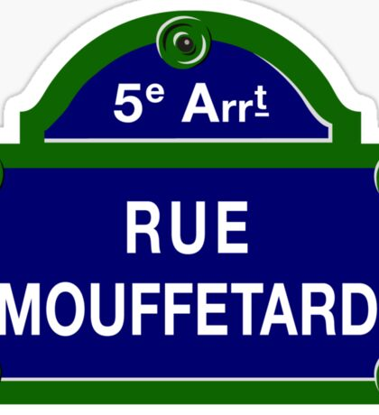 Rue Mouffetard, Paris Street Sign, France Sticker