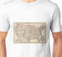 Vintage United States Map (1874) Unisex T-Shirt