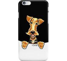 Peeking Airedale Terrier iPhone Case/Skin