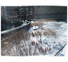 High Line in Snow, New York's Elevated Garden and Park Poster