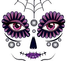 Day of Dead Girl Face 10 by AnnArtshock