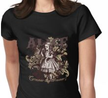 Alice In Wonderland Carnivale Style Womens Fitted T-Shirt