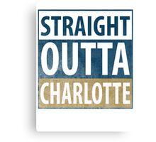 Straight outta Charlotte! Canvas Print