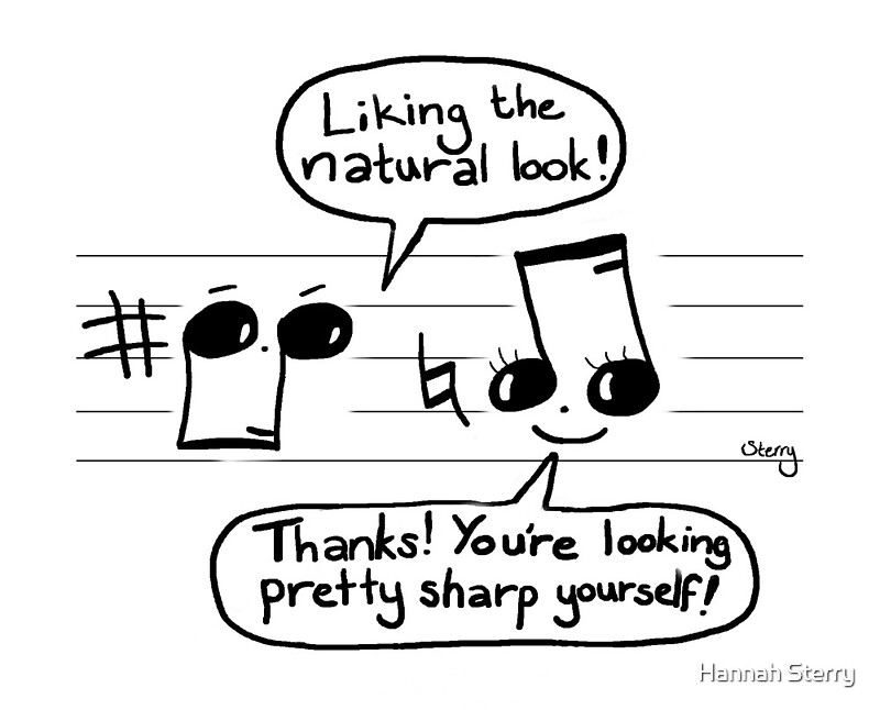 Musical Compliments funny music joke t-shirt by Sterry Cartoons. Humour for musicians and teachers.