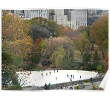 Central Park, Wollman Rink, Fall Colors Poster