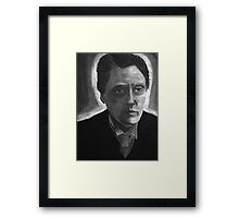 Charcoal Walken Framed Print