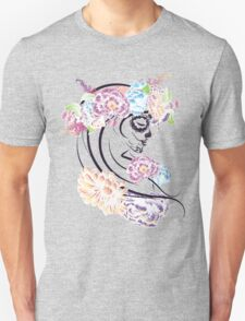 Sugar Skull Girl in Flower Crown 5 Unisex T-Shirt