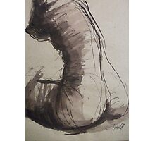 Back Torso - Sketch of a Female Nude Photographic Print