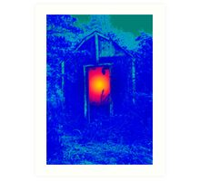 Blue Shack Calling Art Print