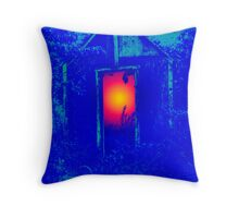 Blue Shack Calling Throw Pillow