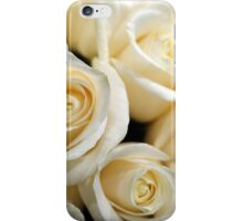 Pretty white rose flowers. Floral photography.  Love, birthday, Valentine's day, mother's day, romance iPhone Case/Skin