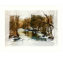 Flowing Winter Creek Art Print
