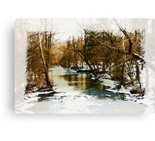 Flowing Winter Creek Canvas Print