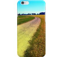 Lonely countryside gravel road iPhone Case/Skin