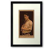 Benjamin K Edwards Collection Grover Hartley New York Giants baseball card portrait Framed Print