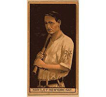 Benjamin K Edwards Collection Grover Hartley New York Giants baseball card portrait Photographic Print