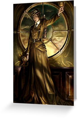 Steampunk Queen of Cups by Barbara Moore