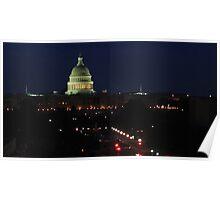 Capitol - Washington, DC at Night Poster