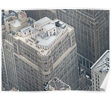 Manhattan Rooftop View, Empire State Building, View from Observation Deck Poster