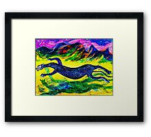 In Sumertime the Black Panther Runs to Mate Framed Print