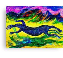 In Sumertime the Black Panther Runs to Mate Canvas Print