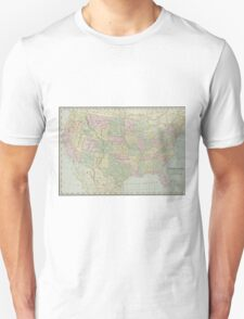 Vintage United States Map (1889) T-Shirt