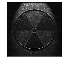 Radioactive Symbol Black Marble Texture by Brian Carson