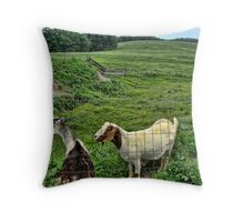Billy Goats Gruff Throw Pillow