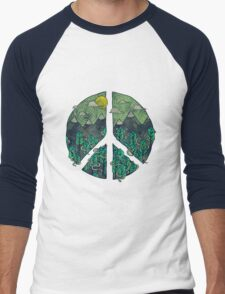 Natural Peace Men's Baseball ¾ T-Shirt