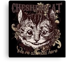 Cheshire Cat Carnivale Style Canvas Print