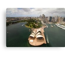 Sydney city from the air with the opera house in the foreground Metal Print