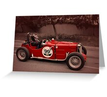 MG TC 1949 Greeting Card