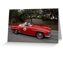 Mercedes Benz 190 SL - 1958 Greeting Card