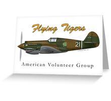 P40B Flying Tigers Greeting Card