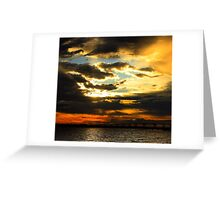 Firery Sunrise Greeting Card