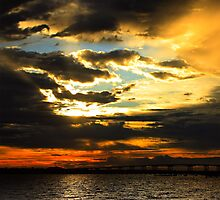 Firery Sunrise Photographic Print