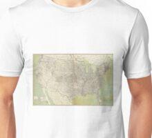 Vintage United States Map (1895) Unisex T-Shirt