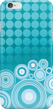Concentrics - Aqua [iPhone/iPod case] by Damienne Bingham