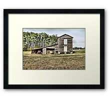 Old Barn ( HDR ) Framed Print