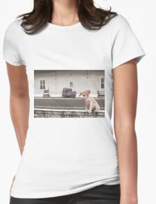 Station Puppy Womens Fitted T-Shirt